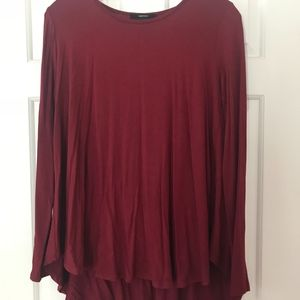 Forever 21 Red/Maroon Long Sleeve Top